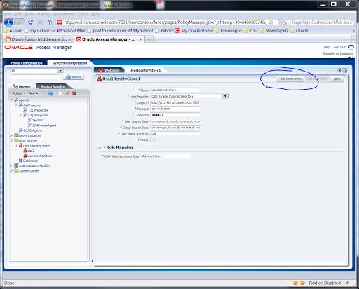 OAM 11g Connecting to an LDAP ID store over SSL (LDAPS) | A