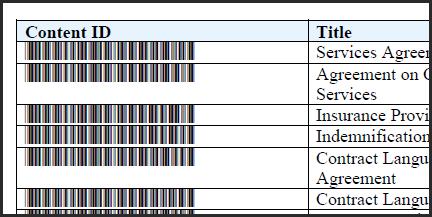 Barcode report