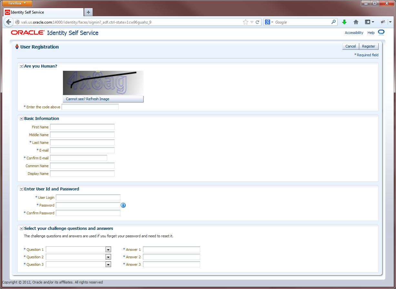 OIM 11g R2 Self Registration with CAPTCHA   A-Team Chronicles