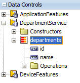 Data Control Palette
