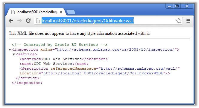 Figure 6 - URL Test of the ODI WSIL File