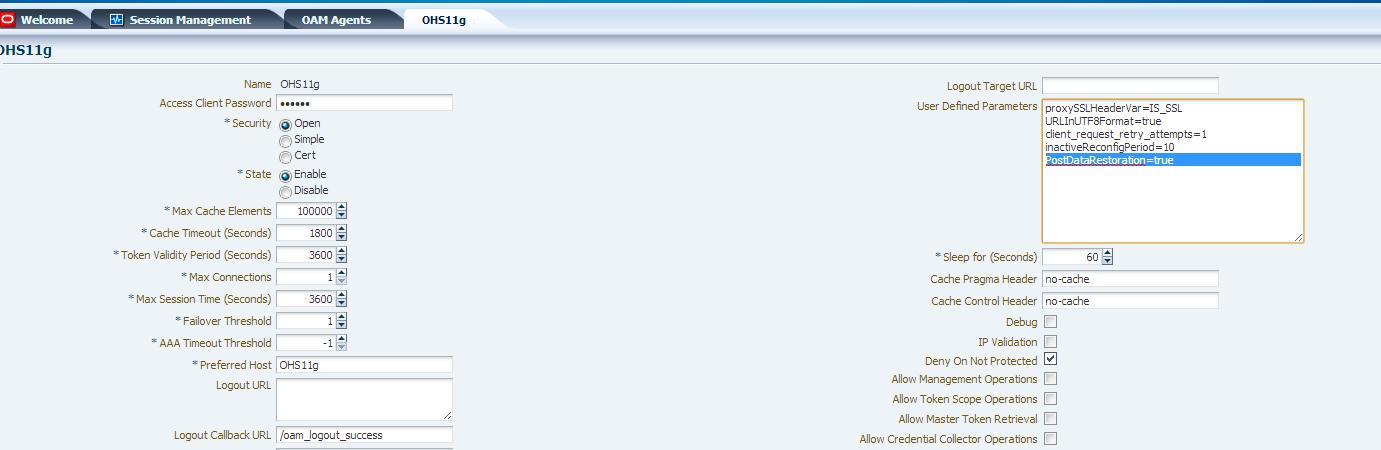 WebgateParameter