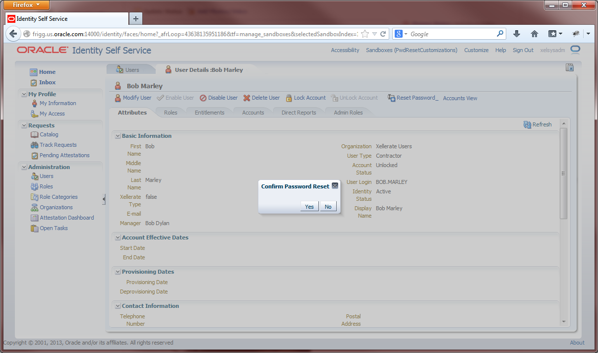 OIM Reset Password Customization Example | A-Team Chronicles