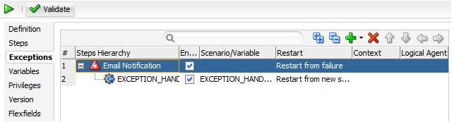Exception Scenario