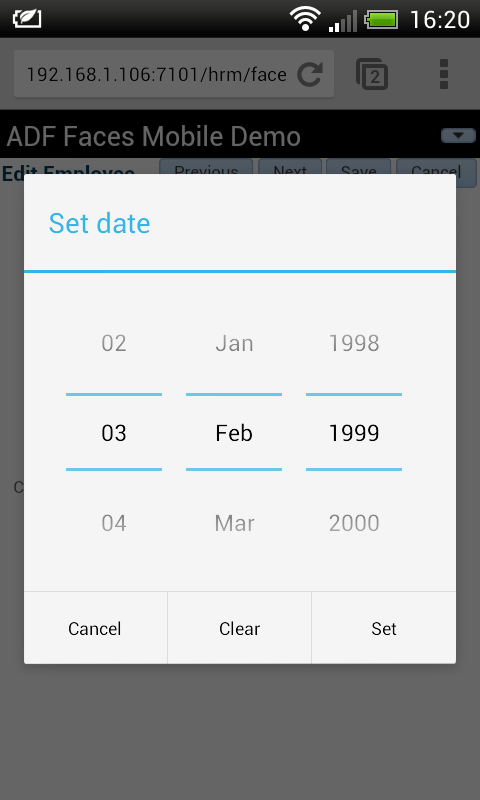 html5dateAndroid