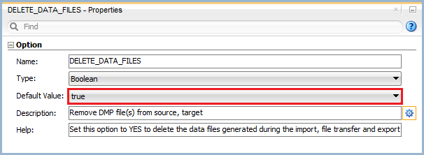 Figure 9: Knowledge Module Option – Delete Data Files