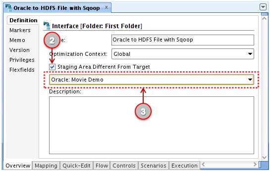 Figure 22: ODI 11g Interface - Definition