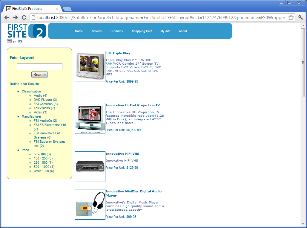screenshot sites+endeca