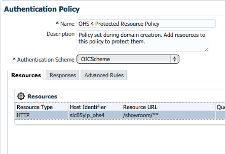 OICScheme in Authentication Policy