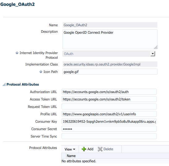 Google OpenID Connect Configuration