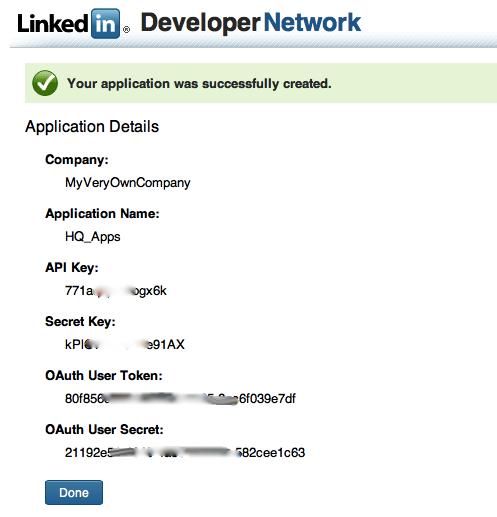 Client Registration in LinkedIn