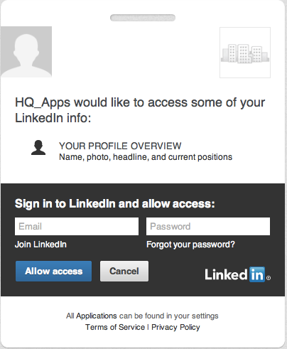LInkedIn OAuth Authentication
