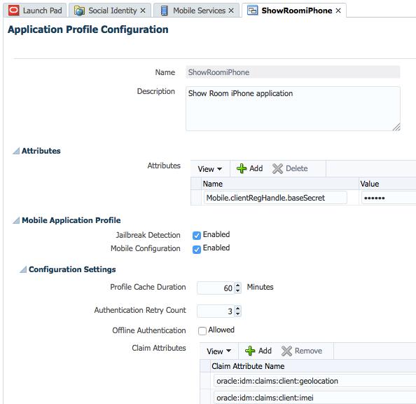 Mobile Services Application Profile