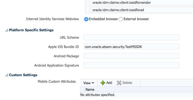 Mobile Services Application Profile (cont'd)