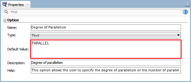 Figure 6 - Knowledge Module Option – Degree of Parallelism
