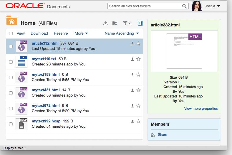Documents Cloud UI