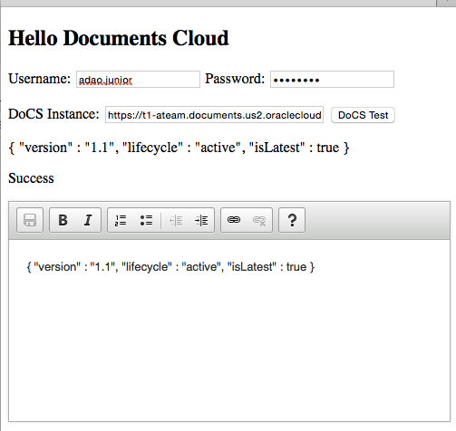 Hello Documents Cloud Screenshot