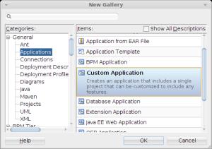 JDeveloper New Custom Application
