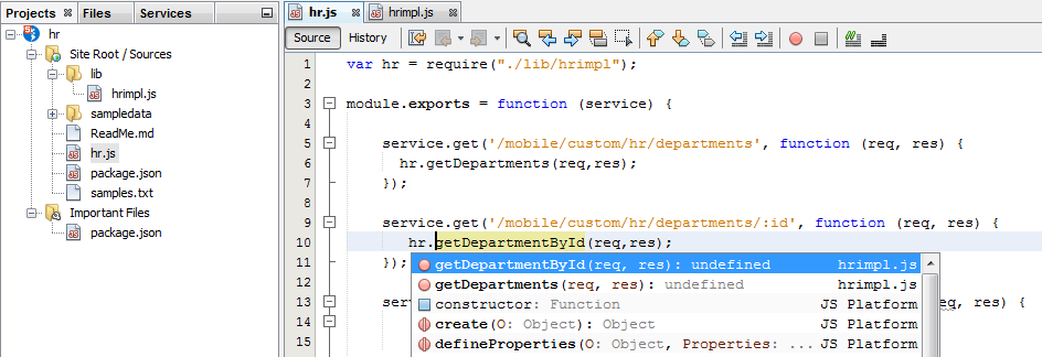 Creating a Mobile-Optimized REST API Using Oracle Mobile