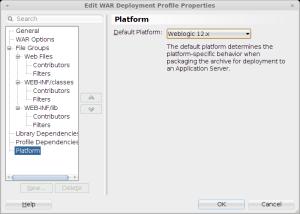 WLS platform setting