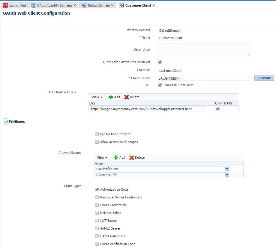 Implementing OAuth 2 with Oracle Access Manager OAuth Services (Part