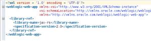 weblogic.xml with library ref