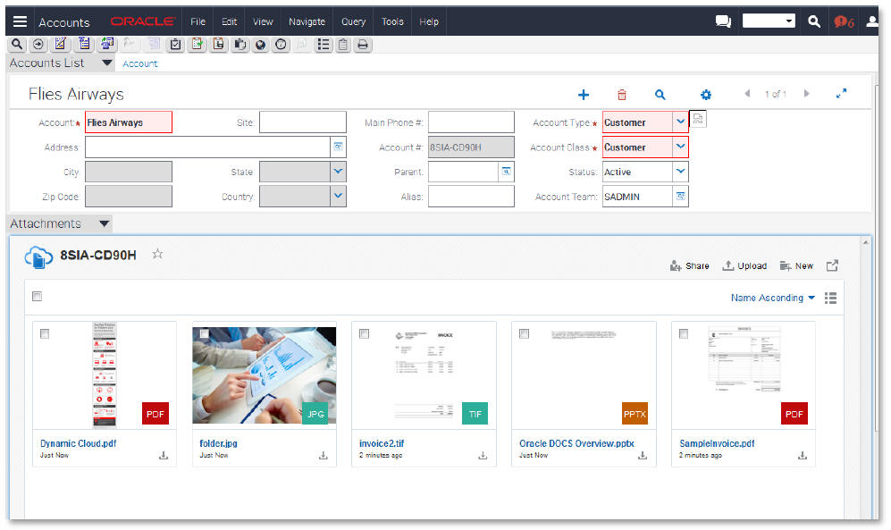Siebel CRM Documents Cloud