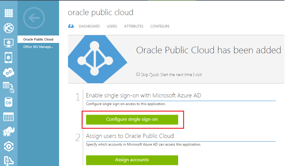 Configuring Oracle Public Cloud to Federate with Microsoft