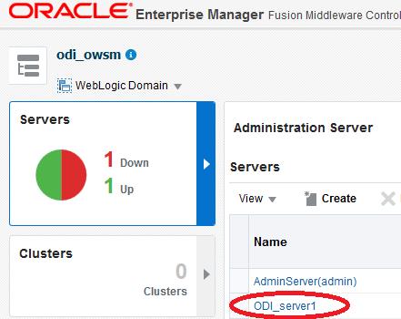 ODI Managed Server name