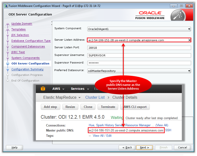 Figure 11 – Configuring the ODI Standalone Agent