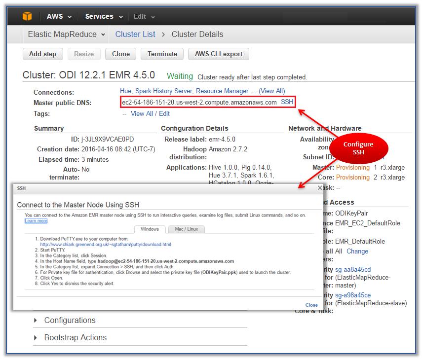 Preparing Amazon Elastic MapReduce (EMR) for Oracle Data