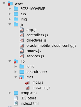 Using the Oracle Mobile Cloud Service SDK with AngularJS and Ionic