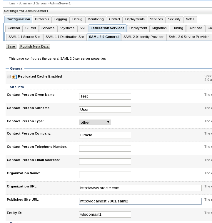 Configure SAML 2 For SSO With Oracle BAM Dashboard