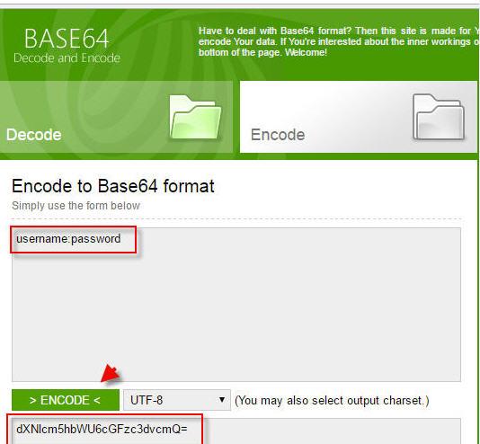 Base64 Encode Username Password