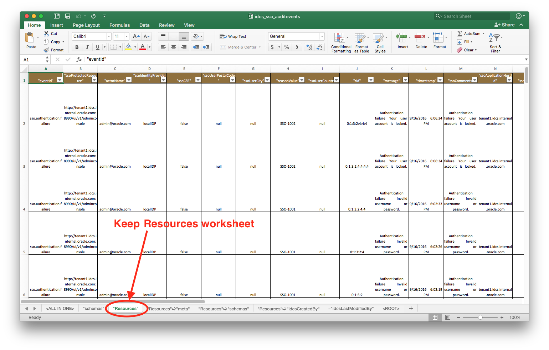 Remove Excel Worksheets