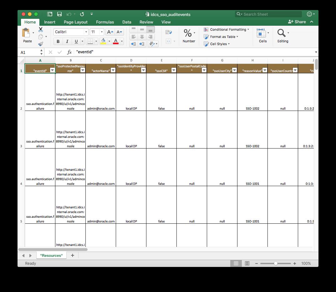 Excel Resource Worksheet