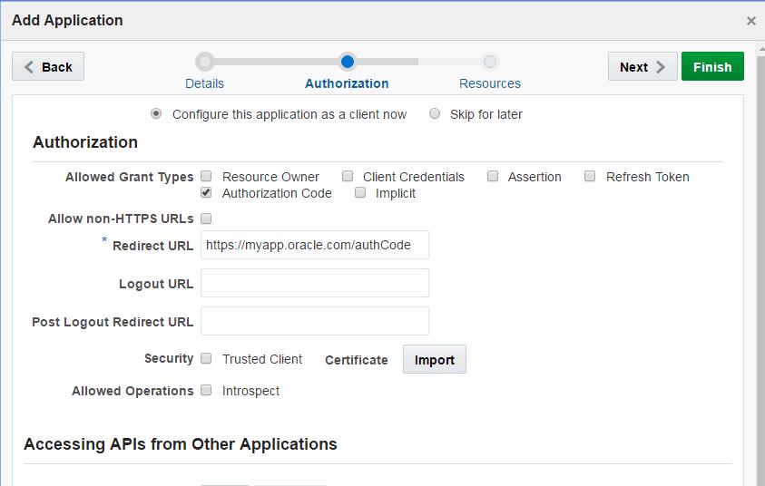 Configure OAuth