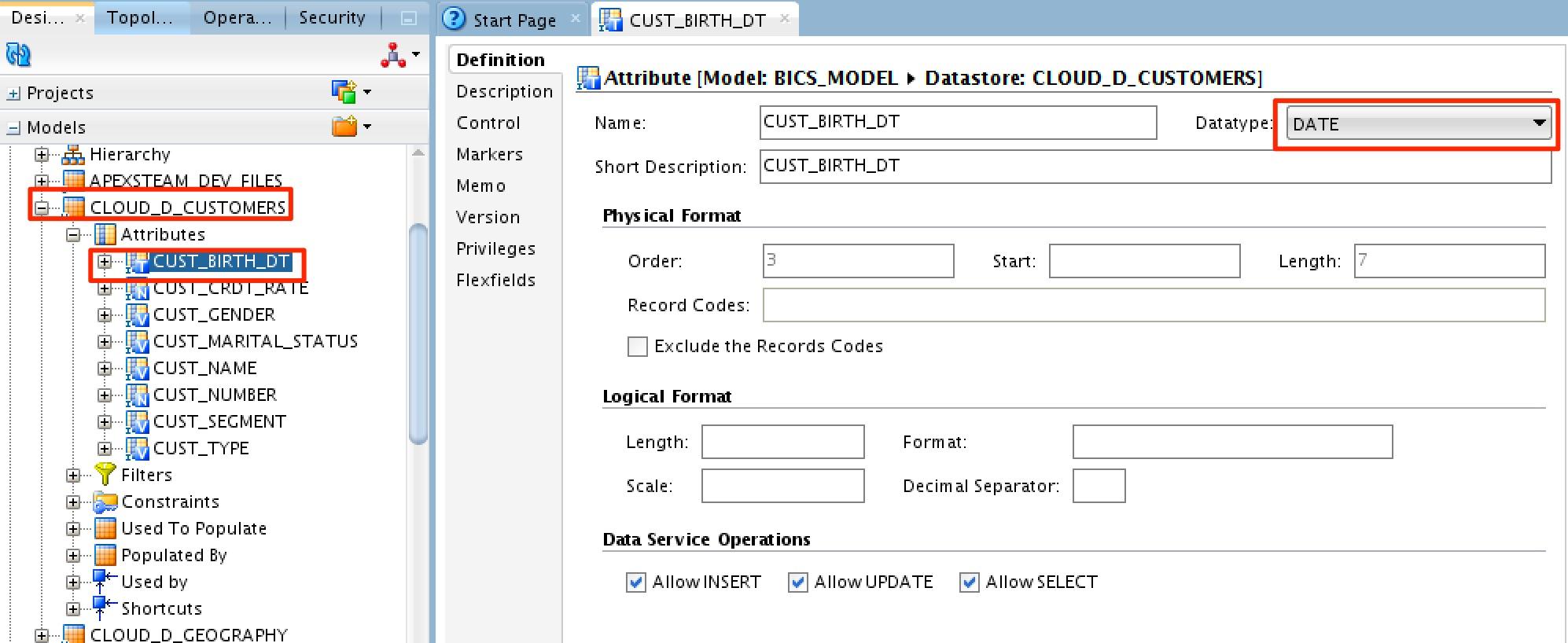 Using Oracle Data Integrator (ODI) to Load BI Cloud Service (BICS