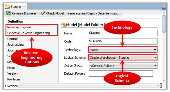 Oracle Data Integrator Best Practices: Using Reverse-Engineering on