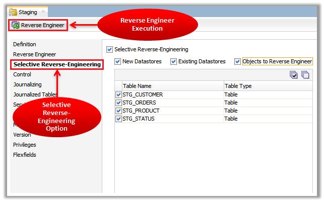 Figure 7 - ODI Reverse-Engineering – Selective Reverse-Engineering