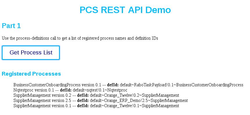 Using Process Cloud Service REST API Part 2 | A-Team Chronicles