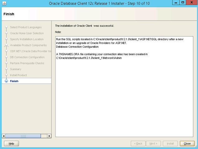 Microsoft Oracle Client