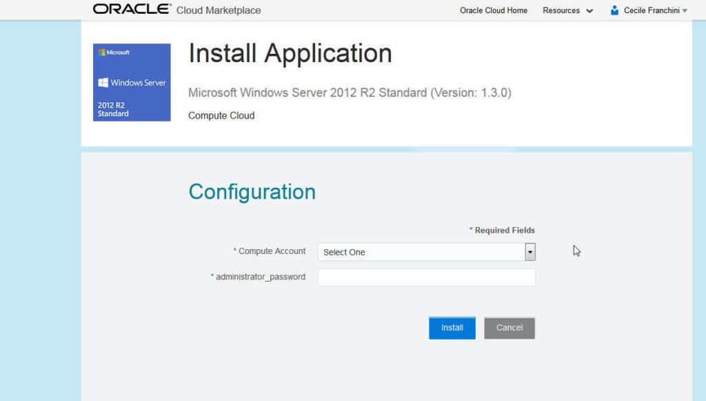 ODI on Compute Windows Image 2