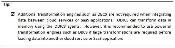 Tip 1 - Integrating Field Service Cloud and BICS with ODI Cloud Service