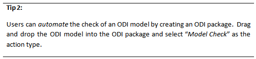 Tip 2 - Using Check Knowledge Modules in ODI