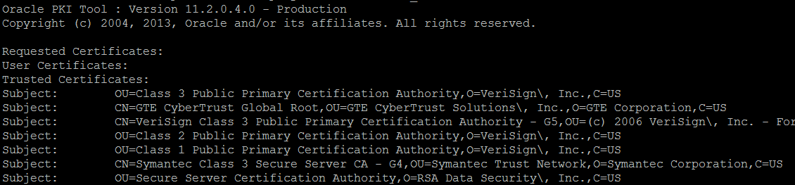 Adding Web Service Trusted Certificates to a Wallet in