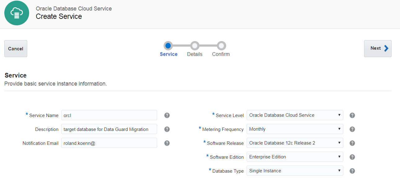 Oracle Database Cloud Service – Near Zero Downtime Migration