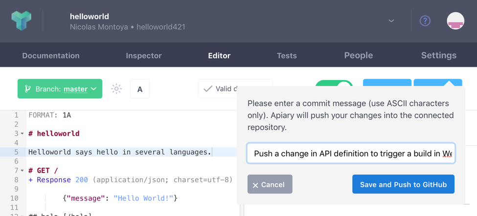Continuous Integration with Apiary, Dredd, and Wercker | A