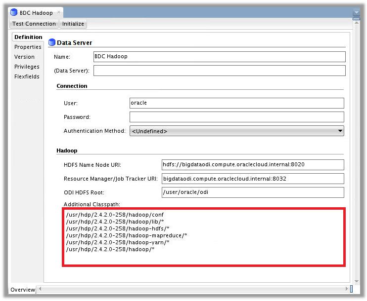 Figure 1 – ODI Topology for Big Data Cloud – Hadoop Data Server