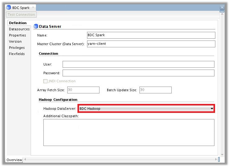 Figure 3 – ODI Topology for Big Data Cloud – Spark Data Server